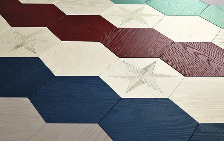 Плитка с декором в виде звезды, дизайн Hillstar Master Эдварда ван Влие