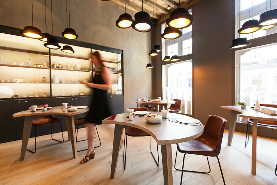 Дизайн интерьера отеля в Брюгге La Suite Sans Cravate от Véronique Bogaert